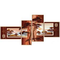 """Рисунки на ткани для вышивания бисером Новая Слобода В46513 """"В лучах заката"""""""