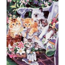 """Набор для рисования Plaid 21688 """"Котята весной"""""""