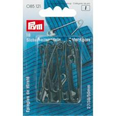 Английские булавки Prym 085121 безопасные 0-2-3 тверд. сталь, черные