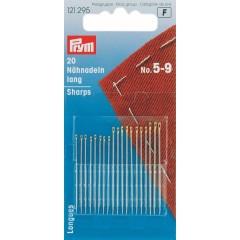 Иглы Prym 121295 длинные швейные,сталь №5-9
