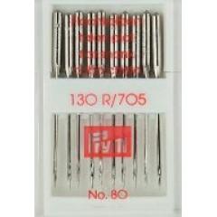 Иглы Prym 151543 для швейных машин стандарт 130-705 80 10 шт.