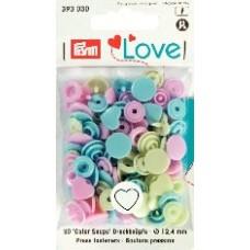 Кнопки Prym 393030 'Color Snaps' Сердце 30 шт.