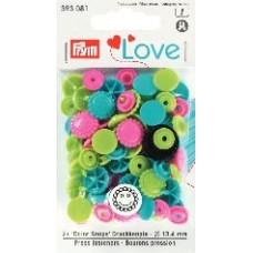 Кнопки Prym 393081 'Color Snaps' 21 шт.