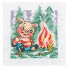 """Набор для вышивания RTO C074 """"Стихия Огонь (Овен, Лев, Стрелец). Год Свиньи"""""""