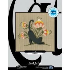 """набор для вышивания РТО CBE9002 с формой из фанеры """"Кошка"""""""