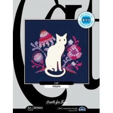 """набор для вышивания РТО CBE9005 с формой из фанеры """"Кошка"""""""