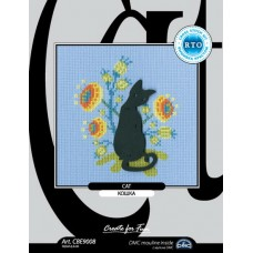 """набор для вышивания РТО CBE9008 с формой из фанеры """"Кошка"""""""