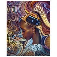 """Картина стразами в технике алмазной вышивки Collection D'Art DE2216 """"Африканский мотив"""""""