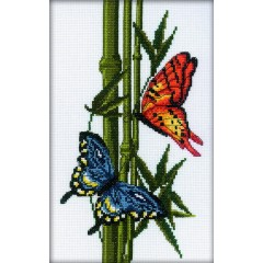 Набор для вышивания RTO M207 Бабочки и бамбук