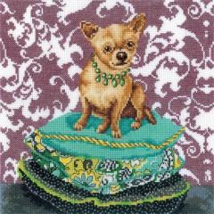"""Набор для вышивания RTO M266 """"Интерьерные собачки - Чихуахуа рыжий"""""""