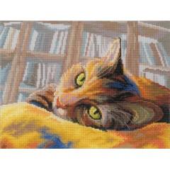 """Набор для вышивания RTO M270 """"Кот книголюб"""""""