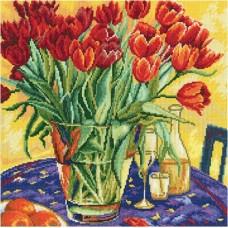 "Набор для вышивания RTO M376 ""Тюльпаны на столе"""