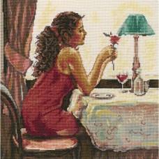 Набор для вышивания RTO M435 Роза и вино