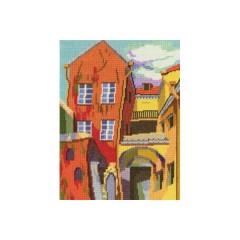 Набор для вышивания RTO M455 Разноцветный дворик