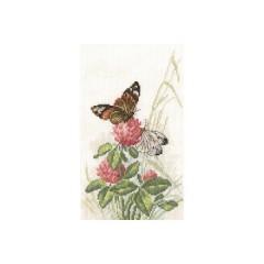 Набор для вышивания RTO M521 Бабочки на клевере
