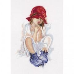 Набор для вышивания RTO M556 Мечтающая девочка