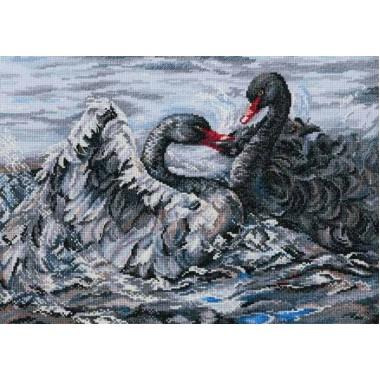 """Набор для вышивания RTO M557 """"Два черных лебедя"""""""