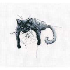 Набор для вышивания РТО M666 Среди черных котов
