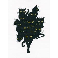 Набор для вышивания RTO M670 Среди чёрных котов
