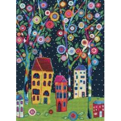 Набор для вышивания РТО M689 Цветущие деревья