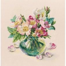 Набор для вышивания RTO M721 Нежные цветы шиповника