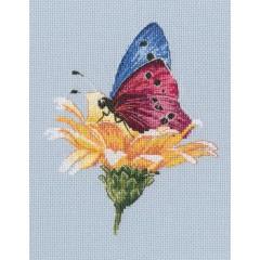 Набір для вишивання хрестиком RTO M751 Метелик на квітці
