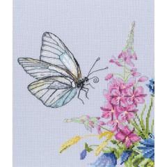 Набор для вышивания RTO M759 Бабочка капустница