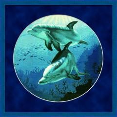 """Набор для вышивания RTO R121 """"Дельфины в морской глубине"""""""