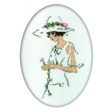 Набор для вышивания RTO R291 Дама в белом