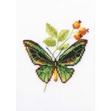 Набор для вышивания RTO EH363 Веточка шиповника и бабочка