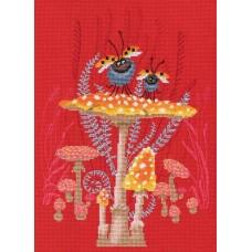 Набор для вышивания RTO M795 Грибная вечеринка