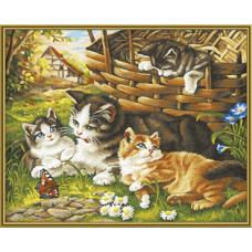 """Набор для рисования красками Schipper 0361 """"Семья котов"""""""