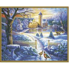"Набор для рисования красками Schipper 0395 ""Зимний замок"""