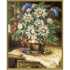 """Набор для рисования красками Schipper 0417 """"Ваза с полевыми цветами"""""""