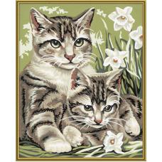 """Набор для рисования красками Schipper 0437 """"Кошка с котенком"""""""