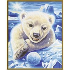 """Набор для рисования красками Schipper 0440 """"Полярный медвежонок"""""""