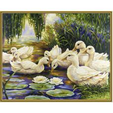 "Набор для рисования красками Schipper 0449 ""Утки на пруду"""