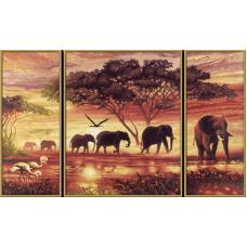 """Набор для рисования красками Schipper 0455 """"Африканские слоны"""""""