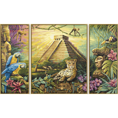 "Набор для рисования красками Schipper 0486 ""Пирамида народа Мая"""