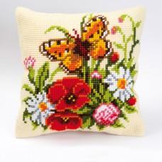 """Набор для вышивания VERVACO 1200/496. Подушка """"Полевые цветы"""""""