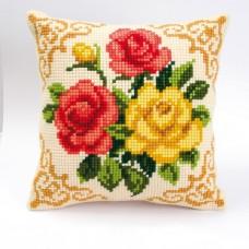 """Набор для вышивания VERVACO 1200/613. Подушка """"Разноцветные розы"""""""
