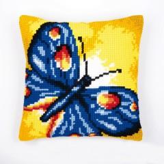 """Набор для вышивания VERVACO 1200/936 Подушка """"Синяя бабочка"""""""