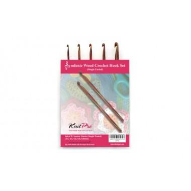 Набор деревянных односторонних крючков для вязания Symfonie Wood KnitPro 20716