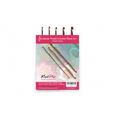 Набор деревянных двухсторонних крючков для вязания Symfonie Wood KnitPro 20730