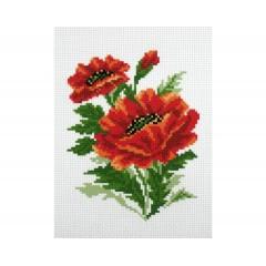 """Канва с рисунком Collection D'Art Аида PA0636 """"Poppies"""""""