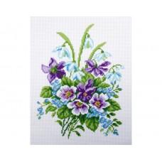 """Канва с рисунком Collection D'Art Аида PA0839 """"Delicate bouquet"""""""