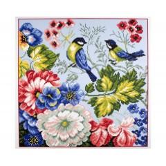 """Канва с рисунком Collection D'Art Аида PA0953 """"Birds"""""""
