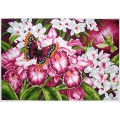 "Канва с рисунком Collection D'Art Аида PA1138 ""Orchids"""