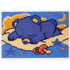 "Канва с рисунком Collection D'Art Аида PA1170 ""Little sleepyhead"""