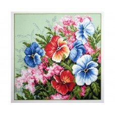 "Канва с рисунком Collection D'Art Аида PA1215 ""Pansies"""